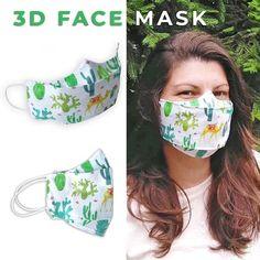 Easy Face Masks, Diy Face Mask, Pocket Pattern, Free Pattern, Simple Face, Diy Scarf, 3d Face, Cute Bows, Diy Mask