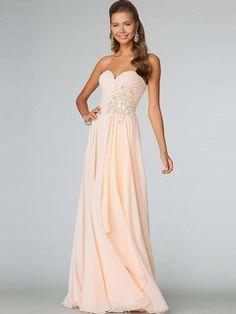 Charming+A-Line/Princess+Sleeveless+Sweetheart+Zipper+Back+Floor-Length+Chiffon+Dresses