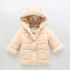 Baby Winter Cotton Coat Baby Girl Candy Cute Thick Down Boy Outerwear Snow Wear Fabric Waterproof Handle  Infant Hooded Clothing #>=#>=#>=#>=#> Click on the pin to check out discount price, color, size, shipping, etc. Save and like it!