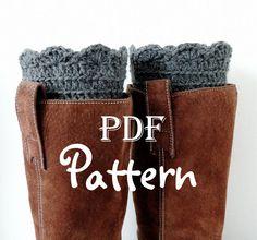 PDF CROCHET PATTERN FANtastic Boot Cuffs by NorthernCottageGifts, $3.50