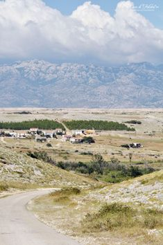 Croatia - Island Pag | with Velebit mountain range in the background (on the other side of Velebitr chanal) with bora wind bearing clouds