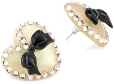 "Tarina Tarantino Classic"" Nude Lucite Post Heart Earrings on shopstyle.com"