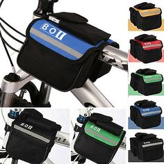 Cycling Bicycle Bike Top Frame Front Pannier Saddle Tube Bag Double Pouch Holder | Bags & Panniers | Bicycle Accessories - Zeppy.io