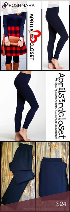 "❗️1-HOUR SALE❗️SEAMLESS LEGGINGS SEAMLESS LEGGINGS  ***Tagged O/S see size details below COLOR: DENIM (Midnight blue) or black ( listed separately)  ABOUT THIS ITEM * Super soft, lightweight, & comfortable * High quality construction * Ideal for layering * Stretch-to-fit * Tagged one size, approx fits 5'2""- 5'10"", 110-165 LBS, SIZES 2-10; 8.5"" rise & 28"" inseam  * Made in the USA  FABRIC 92% nylon, 8% spandex  ❌NO TRADES❌ ✅BUNDLE DISCOUNTS✅ OFFERS CONSIDERED (Via the offer button only)…"
