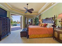 Tropical Master Bedroom   Green Walls, West Indies Furniture   Olde Naples,  Florida Melinda