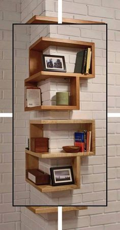 1 Pcs Wall Home Decor Design Student Creative Hidden Invisible Book Shelf H sa