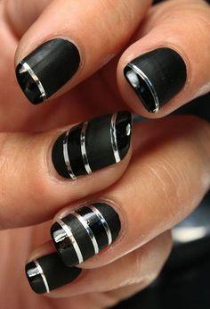 Classy Black Nail Art Ideas