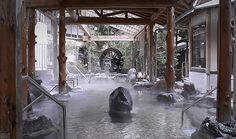 850 year old spa, Misasa, Japan.
