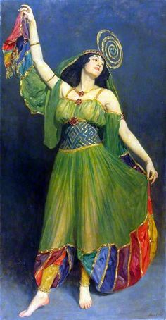John Collier (British painter and writer) 1850 - 1934, Souvenir of Chu Chin Chow, s.d., oil on canvas, 218.2 x 114.5 cm., The Glynn Vivian Art Gallery, Swansea, United Kingdom