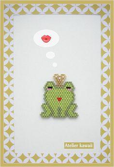 « Prince charmant » en perles Miyuki (tissage brick stitch)