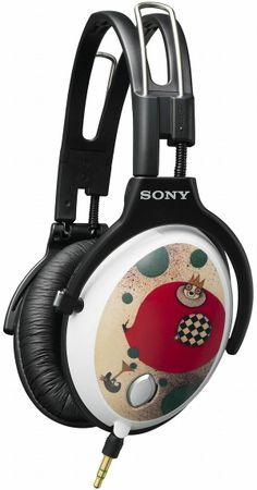 Headphones customized by a Japanese artist.