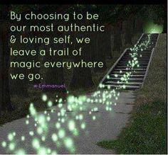 Up for choosing to be your most authentic & loving self with everyone you meet today?