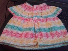 Handknitted Newborn sleeveless cardigan - girls by RAINBOWSANDRIBBONDS on Etsy