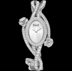 PIAGET ROSE PASSION WATCH -G0A39175-  20x28 mm. Case in 18K white Gold set with 92 brilliant-cut Diamonds (approx. 0.83 ct). 18K white Gold bracelet set with 278 brilliant-cut Diamonds (approx. 9.05 ct). Piaget 56P quartz movement.