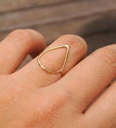 Open Teardrop Ring by Silversheep Jewelry on Scoutmob Shoppe