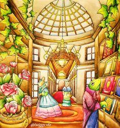 Menuet de Bonheur  by: @kanokoegusa  Derwent Inktense + FC A. Dürer #menuetdebonheur #rhapsodyinforest #egusakanoko #japanesecoloringbook #adultcoloringbook #coloringbook #coloringforadults #coloringforgrownups #derwent  #inktense #fabercastell #albrechtdürer #kolorowaniedladorosłych #kochamkolorować #kolorowamafia
