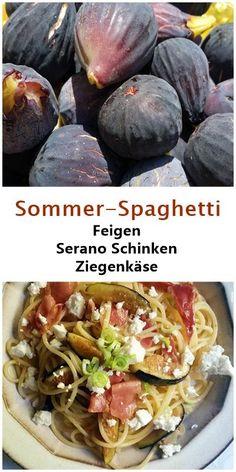 Rezept für Spaghetti mit Feigen, Serano Schinken und Ziegenkäse