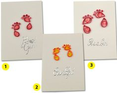 Its a Girl card baby girl cards new baby cards quilling by vitbich