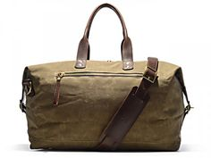 Bedford British Tan Wax Overnight Bag