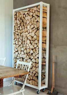 Top 31 Super Smart DIY Storage Solutions For Your Home Improvement DIY Outdoor Firewood Storage Into The Woods, Outdoor Firewood Rack, Firewood Holder, Indoor Firewood Storage, Buy Firewood, Firewood Logs, Deco Design, Design Design, Design Color