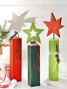 Weihnachtliche Holzpfosten