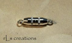 Torpedo Clasp Twist Type Silver Plated Brass  10 by rlscreations (Craft Supplies & Tools, Jewelry & Beading Supplies, Findings & Hardware, torpedo clasp, screw, silver plated brass, silverplate, findings, closure, metal, 10mm x 3mm, barrel, necklace parts, component, slim, thin)