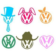 VW Volkswagen Logo Pack with Hat, Bunny Ears and Leaves Cuttable Design Cut File. Vector, Clipart, Digital Scrapbooking Download, Available in JPEG, PDF, EPS, DXF and SVG. Works with Cricut, Design Space, Sure Cuts A Lot, Make the Cut!, Inkscape, CorelDraw, Adobe Illustrator, Silhouette Cameo, Brother ScanNCut and other compatible software.