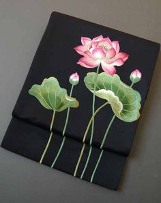 Pichwai Paintings, Indian Art Paintings, Japanese Embroidery, Embroidery Art, Lotus Artwork, Namaste Art, Lilies Drawing, Indian Folk Art, Fabric Painting
