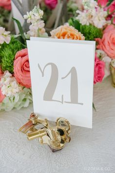 This Nantucket wedding featured nautical details throughout, like the sextant table number holders. We love! See more at dailycatch.coastalliving.com and @soireefloral