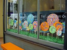 lollipop window display