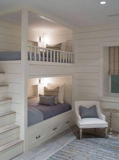 Bunk Bed Rooms, Bunk Beds Built In, Modern Bunk Beds, Bunk Beds With Stairs, Cool Bunk Beds, Kids Bunk Beds, Attic Stairs, Open Stairs, Loft Beds