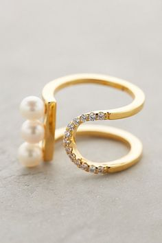 Pearled Treble Ring by Gold Philosophy #Anthropologie