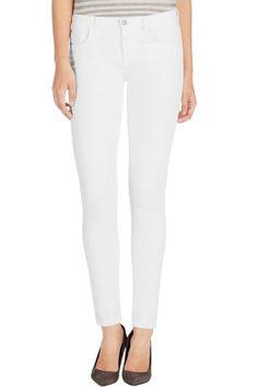 J Brand, 23110 Maria, blanc, Womens : Super Skinny Legging, White Skinny Jeans, Skinny Legs, Tailored Jacket, J Brand Jeans, Super Skinny, High Waist Jeans, Spring Fashion, My Style, Clothes