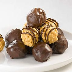 Rice Crispy Peanut Butter Balls Recipe. Making this right now!