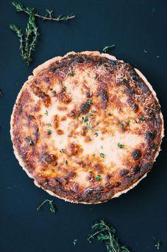 Cauliflower and Caramelised Onion Tart |Thyme & Honey