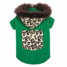 M. Isaac Mizrahi Luxe Leopard Dog Coat - Green