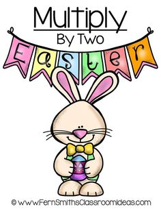 Quick and Easy to Make Multiplication Center Game Multiply By Two Concept for Easter #TPT $Paid