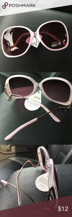 Sunglasses Light pink frames with plum color shades and gold hardware Accessories Sunglasses