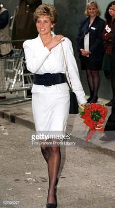 December 1, 1994 Diana Princess Of Wales At The National Aids Trust Sexual Health Clinic In London The Mortimer Market Centre.