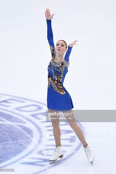 Maria Sotskova of Russia competes in the Ladies short program during the ISU Grand Prix of Figure Skating NHK Trophy on November 25, 2016 in Sapporo, Japan.