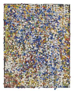 Howardena Pindell. Untitled, 1975; mixed media on board; 14 x 11 in. Courtesy of the Artist and Garth Greenan Gallery, New York.