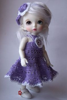 Flower faerie - Lilac (crochet outfit for Pukifee\/Lati Yellow)