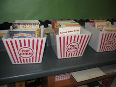 -Hollywood Classroom Theme -pictures / photos -tips / ideas -bulletin board i. -Hollywood Classroom Theme -pictures / photos -tips / . Popcorn Theme Classroom, Circus Theme Classroom, Classroom Setup, Classroom Design, School Classroom, Classroom Organization, Movie Classroom, Organizing Books, Classroom Tools