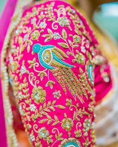 35 Stunning Latest Maggam Work Blouse Designs 2020 Stunning Latest Maggam Work Blouse designs 2020 for bridal kanjeevaram silk sarees, wedding blouses, pattu saree blouse designs 2020 Wedding Saree Blouse Designs, Pattu Saree Blouse Designs, Fancy Blouse Designs, Blouse Neck Designs, Wedding Blouses, Blouse Patterns, South Indian Blouse Designs, Choli Designs, Sari Blouse