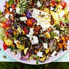 Gegrilde groente met feta en tabouleh recept - Jamie magazine