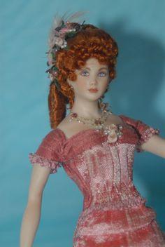 Gina Bellous Painted Elisa Fenoglio Dressed Artist OOAK Miniature Lady Doll