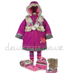 Deux Par Deux girls winter coat w/removable vest - TrendyBrandyKids - European trendy clothes for boys and girls. Catimini, Desigual, Deux par Deux, Diesel, Halabaloo, Ikks, Jean Bourget, Marese, Me Too, Mim Pi, Pom Pom Casual.