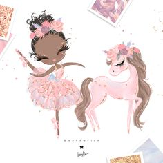 Ballerina Clipart by Karamfila on Baby Girl Clipart, Unicornios Wallpaper, Birthday Clipart, Unicorn Art, Unicorn Horse, Cute Drawings, Cute Wallpapers, Iphone Wallpapers, Planner Stickers