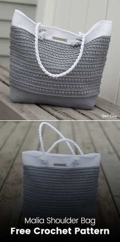 Malia Shoulder Bag Free Crochet Pattern #crochet #crafts #yarn #bag #homemade #handmade