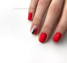Semi-permanent varnish, false nails, patches: which manicure to choose? - My Nails Nail Art Cute, Cute Nails, Pretty Nails, Red Nail Art, Gelish Nails, Shellac, My Nails, Short Red Nails, Asian Nails
